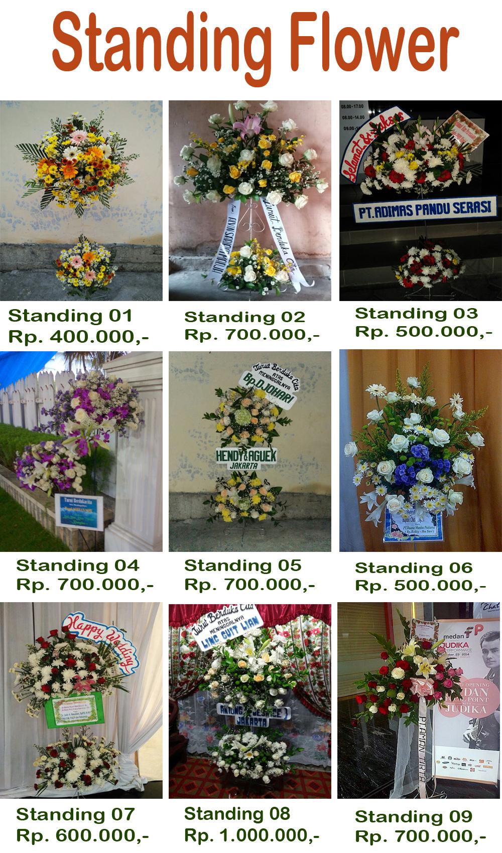 """""""standing flower medan"""""""